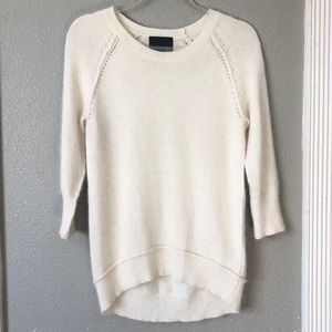 Cynthia Rowley 3/4 sleeve angora/nylon sweater